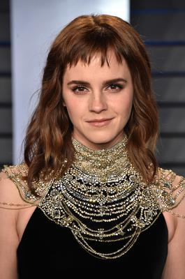 Emma Watson's micro fringe. Photo: Getty Images