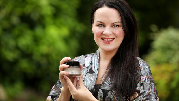 Our beauty buff Triona McCarthy with Armani's new Crema Nuda. Photo: Gerry Mooney