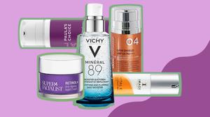A selection of anti-ageing beauty products