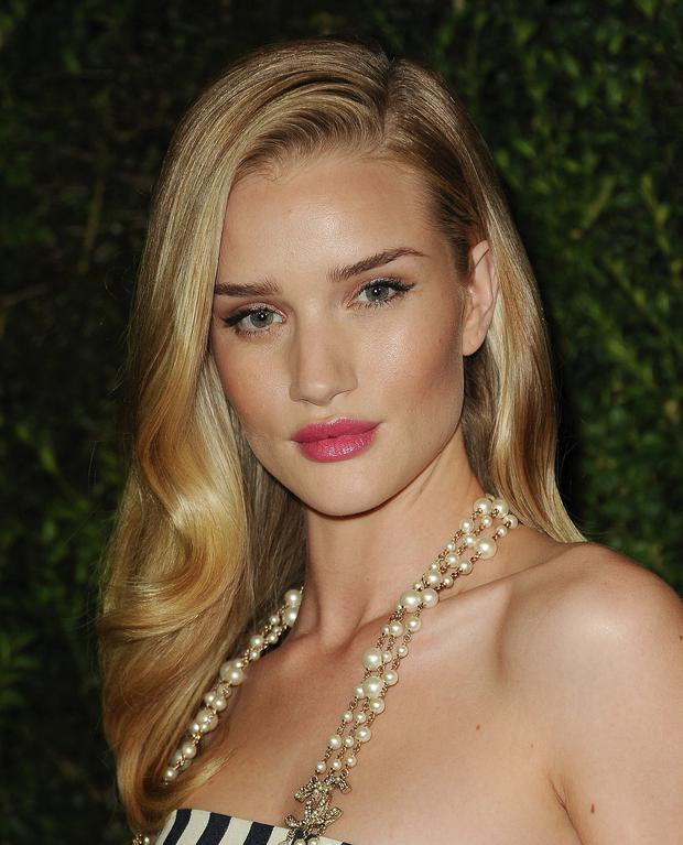 Bronzed goddess Rosie Huntington-Whiteley