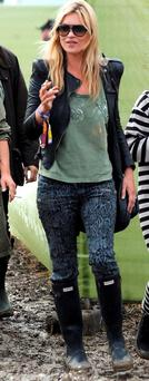 Kate Moss at Glastonbury.