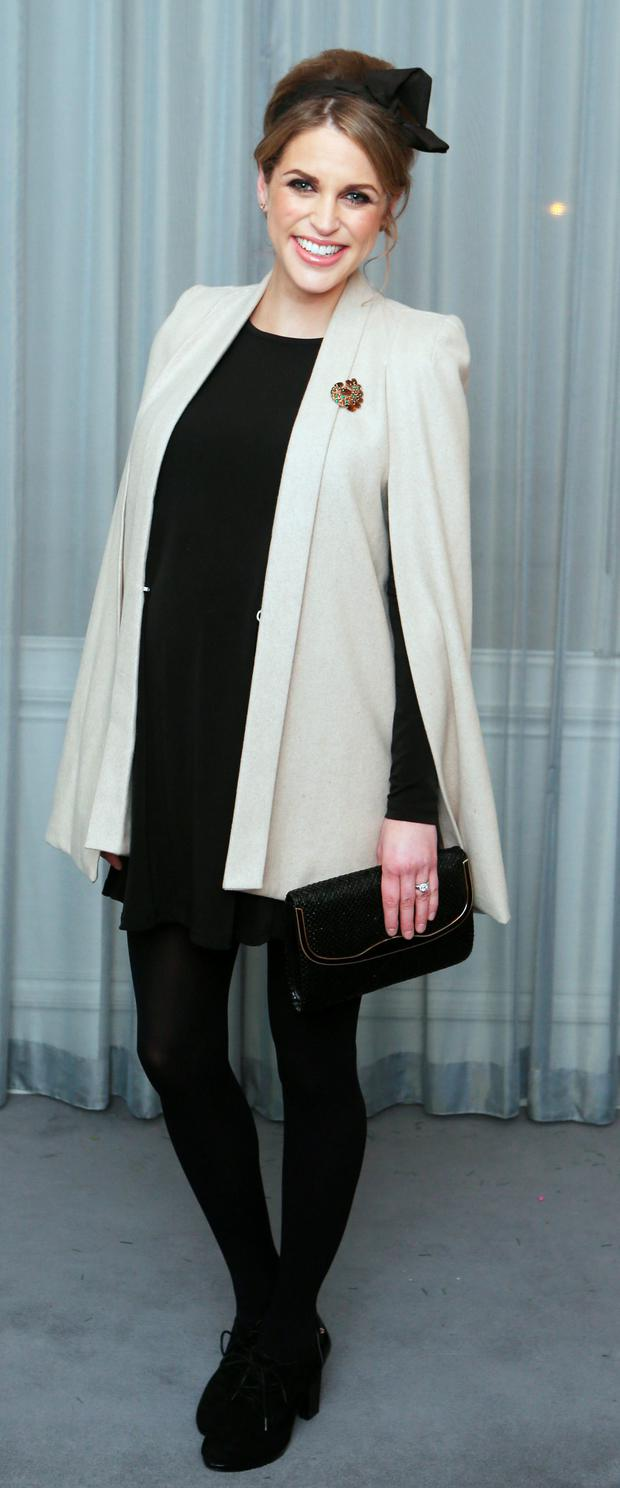 Amy Huberman at the launch of hubby Brian's biography