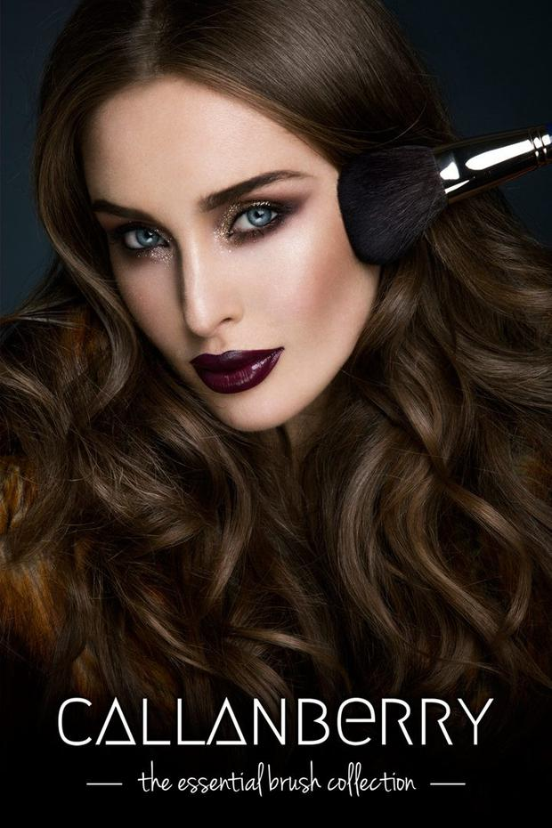 Model Roz Purcell photographed for Callanberry's Brush Collection Campaign.