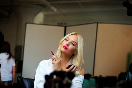 Candice Swanepoel for Max Factor's Colour Intensifying Balms.