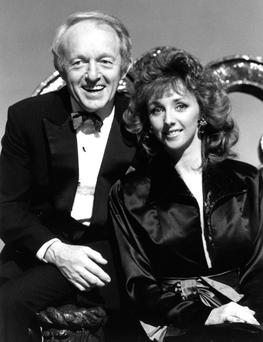 PURE MAGIC: Paul Daniels with his on show assistant and wife Debbie McGee