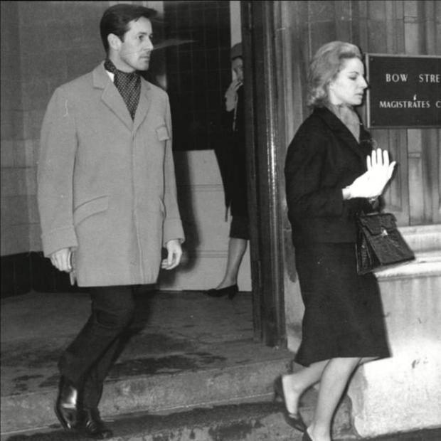 'DANGEROUS TO KNOW': Waterfield at Bow Street Court with heiress Sarah Skinner in 1960
