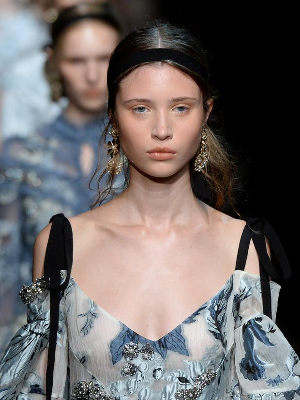A model walks the runway at the Erdem show during London Fashion Week Spring/Summer collections 2017