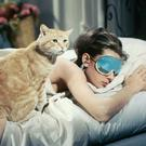 Sleep in style like Audrey Hepburn in her iconic 'Breakfast at Tiffany's' role, with Mary Green's Breakfast at Tiffany's Eye Mask, €26, from dolcifollie.co.uk