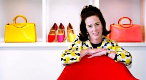 WINNING DESIGNS: Businesswoman Kate Spade with handbags and shoes from her collection in New York.