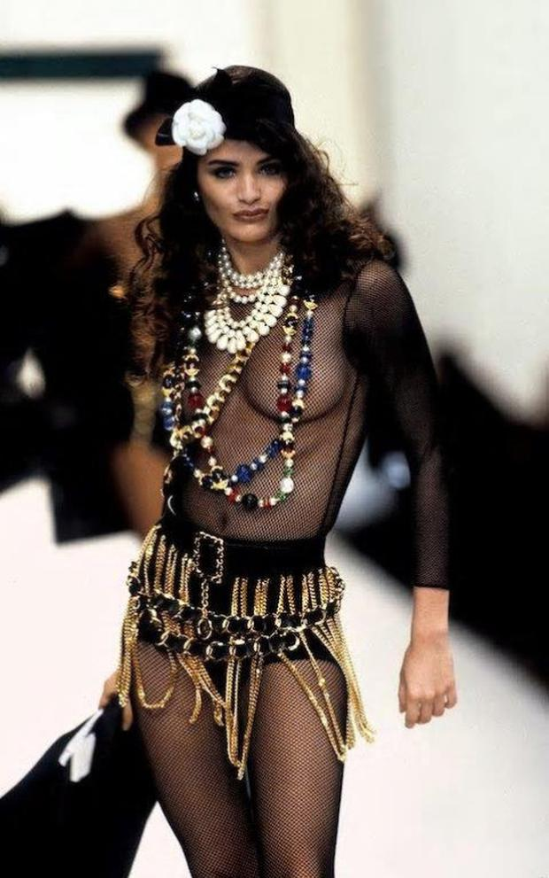 STYLE: Helena Christensen in a 1991 Chanel show. Photo: Courtesy of Thames & Hudson