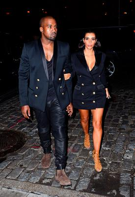Kanye West and Kim Kardashian arrive to Soho House New York