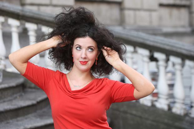 Hair-raising: Deirdre Reynolds has been fighting the frizz