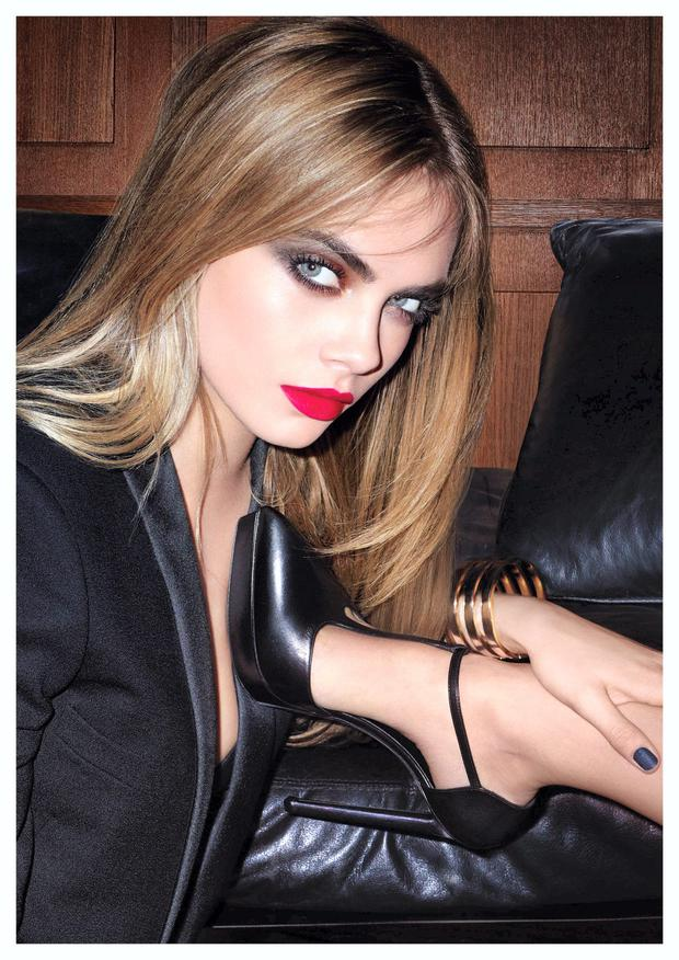 Cara Delevingne photographed for the YSL Black Fetish campaign