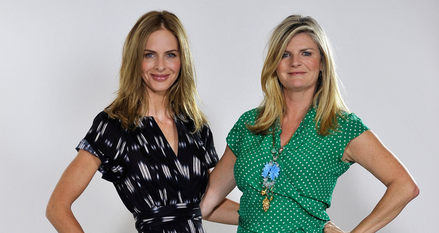 Trinny Woodall with Susannah Constantine from What Not to Wear. Photo: Getty Images