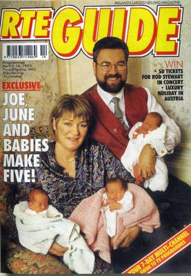 Joe Duffy, his wife June and the triplets shortly after their birth.