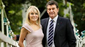Bill Cullen and Jackie Lavin in 2010. Photo: Gerry Mooney