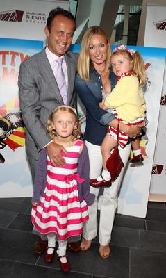 Victoria Smurfit, Doug Baxter and daughters Evie and Ridley in 2010