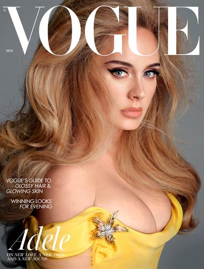 Adele appears on the front of both the British and American editions of Vogue. PA