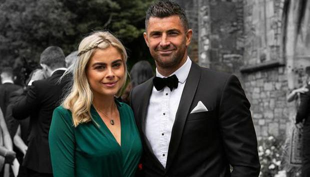 Jess Redden and Rob Kearney at Cian Healy's wedding. Picture: Andy Newman