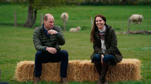 Prince William and Kate Middleton on a visit to a farm earlier this year. Photo: PA