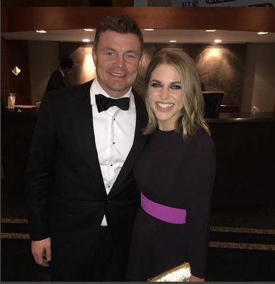 Brian O'Driscoll and Amy Huberman - instagram.