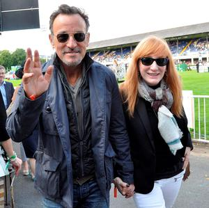 Bruce Springsteen and Patti Scialfa at the RDS.
