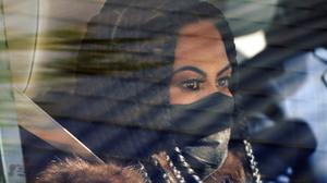 "Jen Shah, a cast member from the reality series ""The Real Housewives of Salt Lake City"" looks on while being driven from the federal courthouse Tuesday, March 30, 2021, in Salt Lake City"