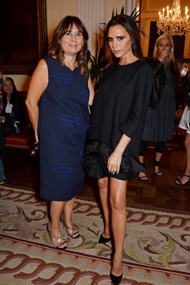 Victoria Beckham (right) has instagrammed rather gushingly about Alexandra Shulman's book.