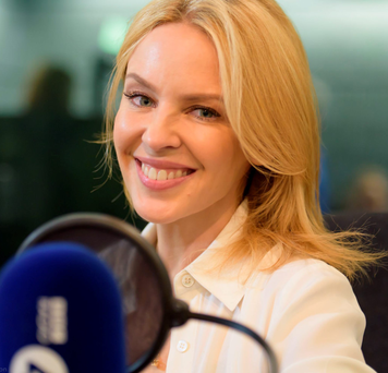 Kylie Minogue appearing on BBC Radio 4's 'Desert Island Discs'