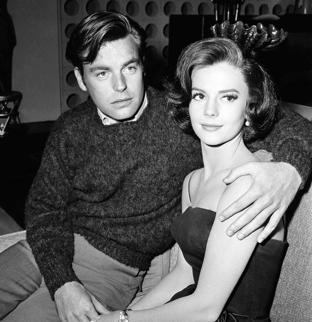 Natalie Wood with Robert Wagner, who she married twice, in 1959. Photo: Getty