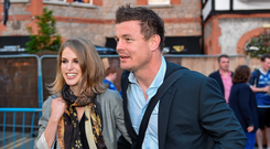 Double act: O'Driscoll with actress wife Amy Huberman. Image: Sportsfile