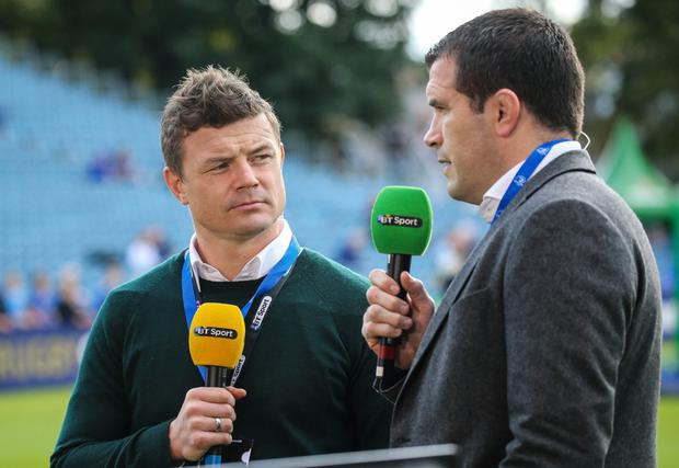 Brian ODriscoll Post Retirement As A Pundit For BT Sport With Shane Jennings