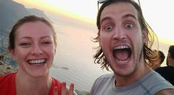 Zak and Grainne in Cape Town