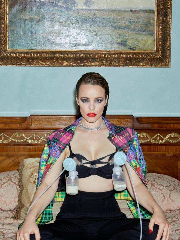 Rachel McAdams was praised for wearing her breast pumps during a photoshoot for Girls.Girls.Girls magazine