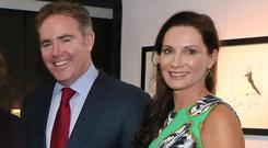 Domhnal and Elaine Slattery, who have finally moved into their €5.6m Shrewsbury Road mansion