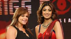 Jade Goody with Big Brother housemate Shilpa Shetty