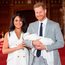 Prince Harry and Meghan Markle with their baby son Archie. Photo: PA