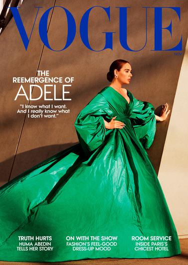Adele appears on the front of both the American and British editions of Vogue. PA