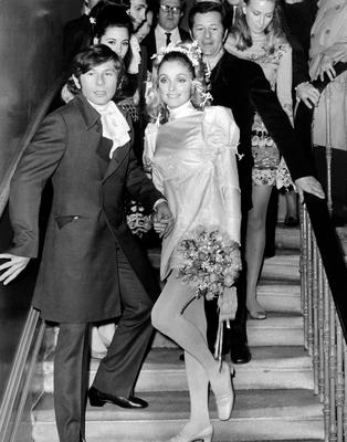 Past perfect:US Actress Sharon Tate and film director Roman Polanski after their wedding in Chelsea register Office in 1968