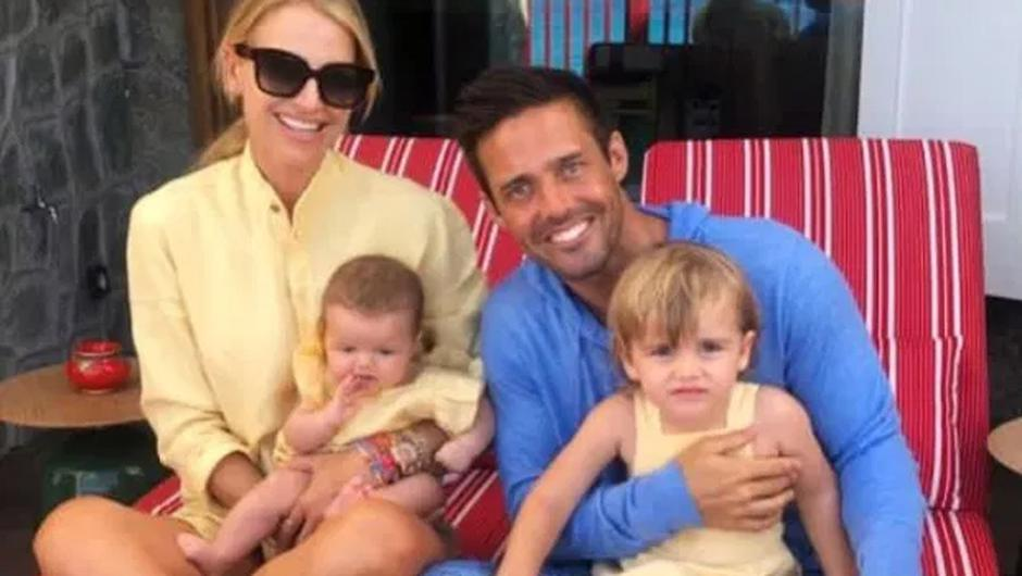 Vogue Williams pictured with her husband Spencer Matthews and their kids Theodore and Gigi