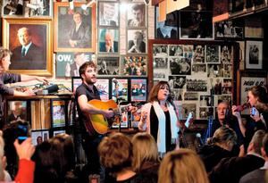 Mary Black performing with her son, Danny O'Reilly, from The Coronas