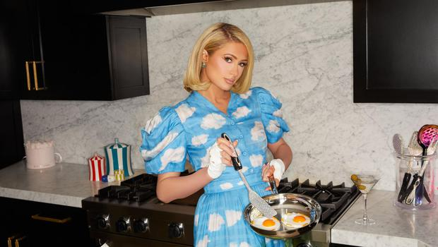 Paris Hilton has left the party lifestyle behind her to start her own cooking show. Photo: Bradley Meinz