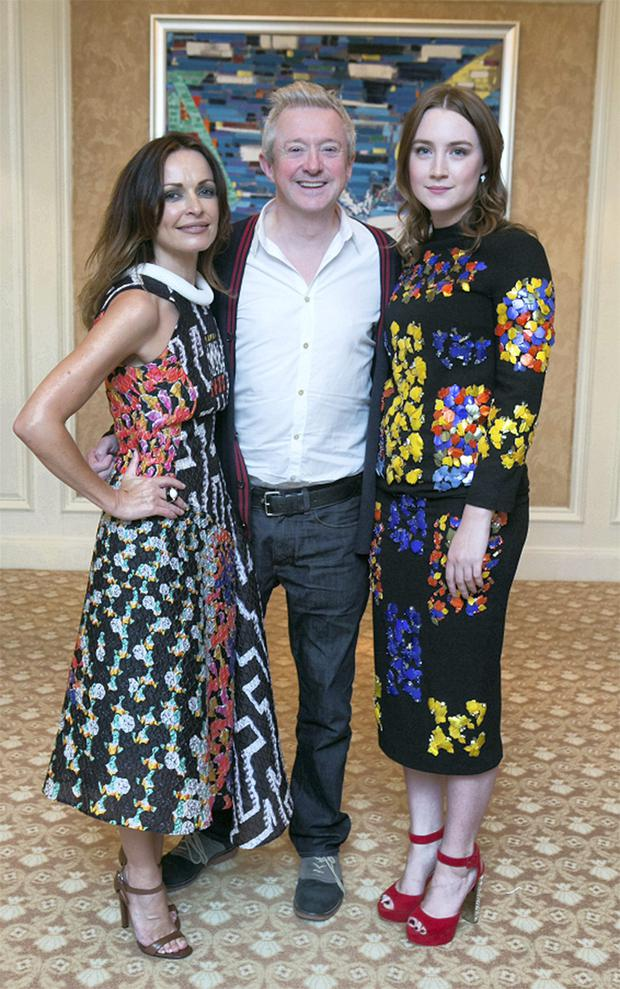 Sharon Corr, Louis Walsh and Saoirse Ronan at the ISPCC Brown Thomas fashion show lunch.