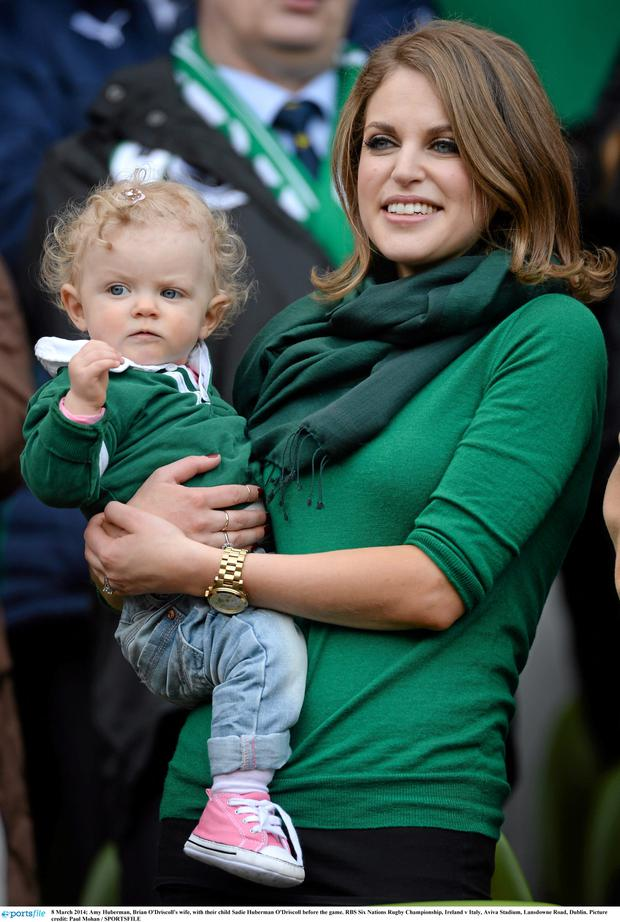 Amy Huberman and daughter Sadie