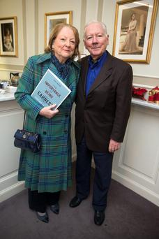 Gay Byrne and Kathleen Watkins at the Gate Theatre, Dublin. Photo: Arthur Carron.