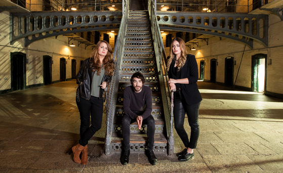 Aoife Scott, Danny O'Reilly and Roisin O'Reilly performed 'Grace' from Kilmainham Gaol. Photo: Andres Poveda