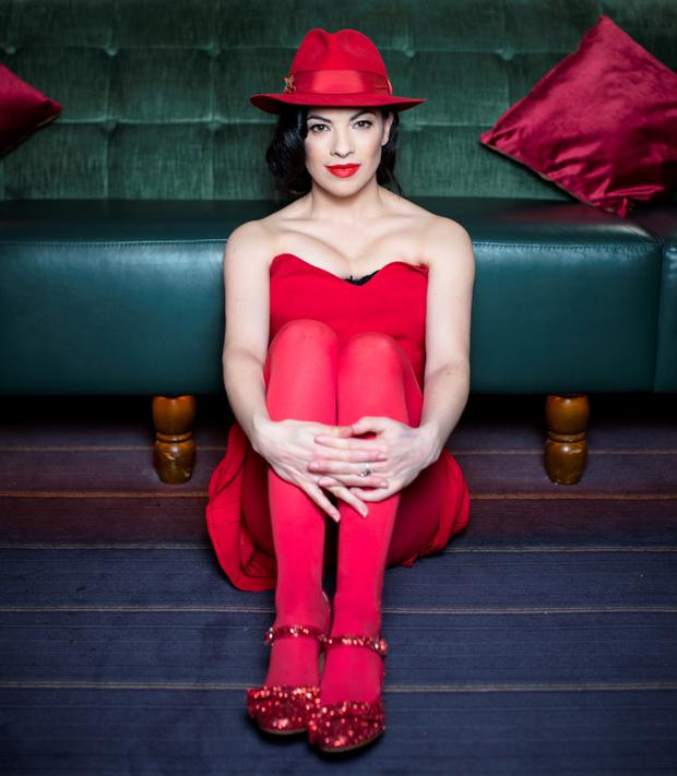 Lady in red: Camille O'Sullivan. Photo: Kip Carroll.