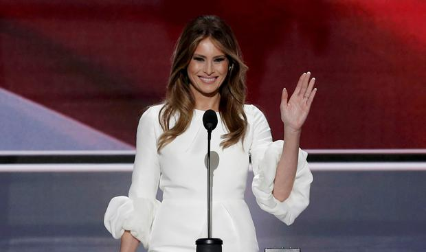The good wife: Melania Trump addresses the Republican National Convention in Cleveland