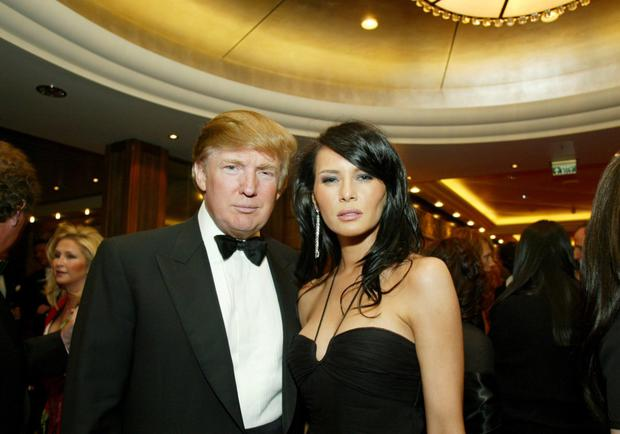 Donald Trump and wife Melania in 2004