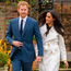 Prince Harry with Meghan at their engagement announcement. Photo: PA